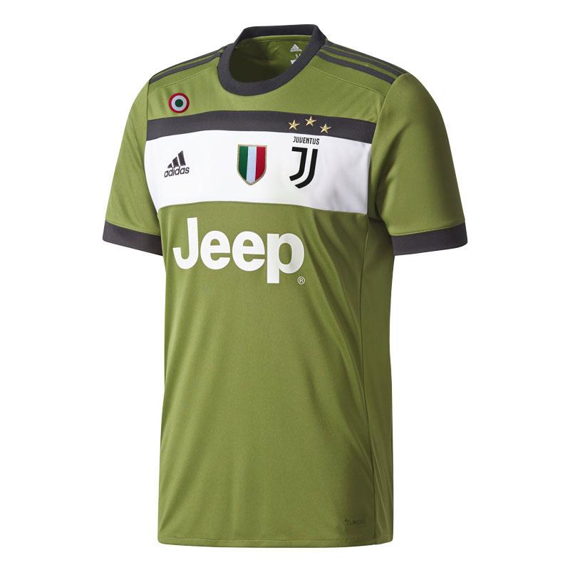 adidas - Juventus Maglia Ufficiale Verde 2017-18 Scudetto Coccarda Coppa Italia